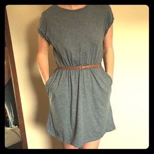 Blue, capped sleeve dress from H&M